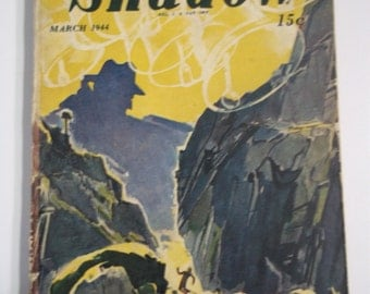 The Shadow March 1944 Vol XLVII No 1 Vintage Mystery Crime Pulp Magazine
