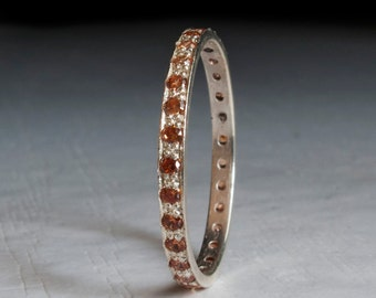 Citrine Eternity ring - champagne ring