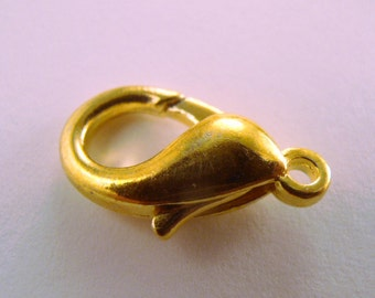 72 pc 18mm Large Lobster Claw Clasps GOLD Plated  (scl7-72)