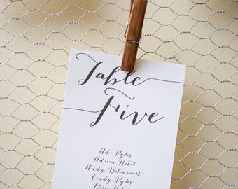 Table Number Seating Cards- Window Seating Chart-Unique Wedding Seating Chart-Rustic Wedding- Elegant Wedding- Place Card- Riley Collection