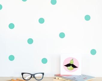 Polka dots Wall decal Mint / Wall Dots Home decor / Polka dot wall Nursery decor / Pink Mint Lavender Yellow Black White Dots Vinyl Sticker