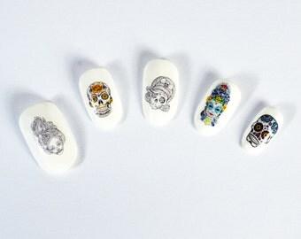 Dia De Los Muertos/ Sugar Skull Nail Decals