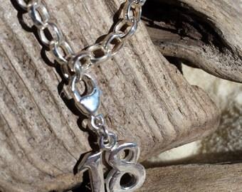 Handmade Sterling Silver 18th Bracelet