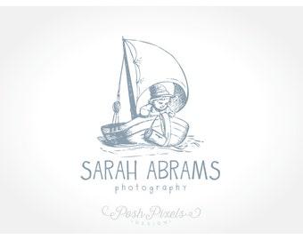 Logo Design (Premade) Vintage logo, Child Logo, Photography Logo, Boutique logo, Whimsical logo, Cute logo, Nautical logo, Boat logo
