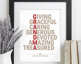 Gift For Grandma Gift For Grandmother Gift For
