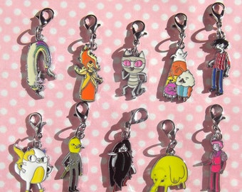 Adventure Time character charms