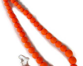 Neon Orange Jewelry - Summer Time Necklace - Trendy Summer Jewelry - Summer Jewelry - Neon Orange Necklace - Neon Jewelry - Neon Necklace