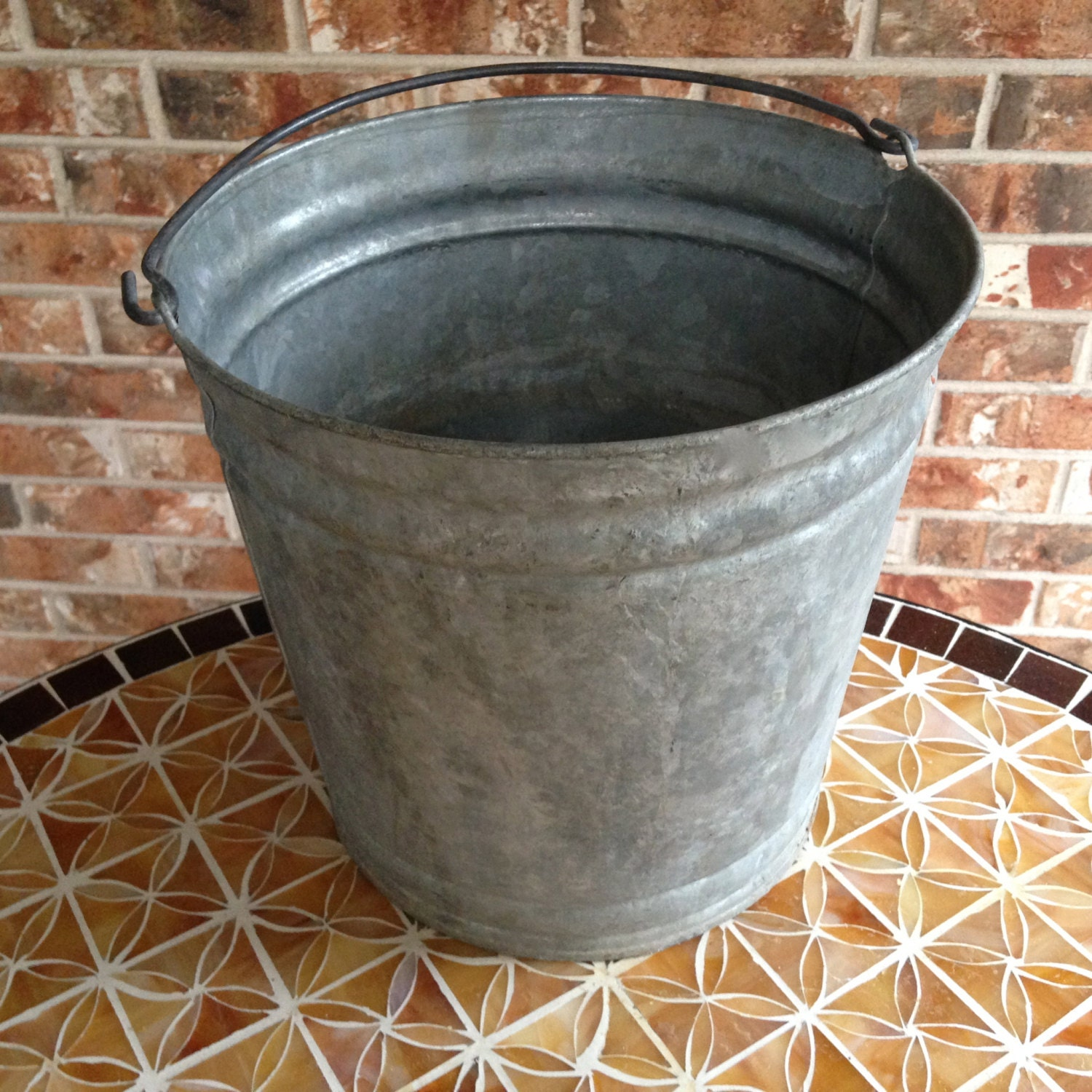 Vintage Galvanized 12 Quart Bucket With Handle