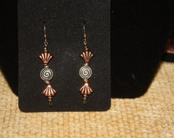 Halloween Candy Copper Wrapper Earrings