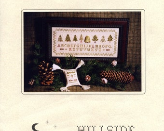 A Stitch in Pine charted embroidery pattern from Hillside Samplings   Counted Cross Stitch   Craft Leaflet
