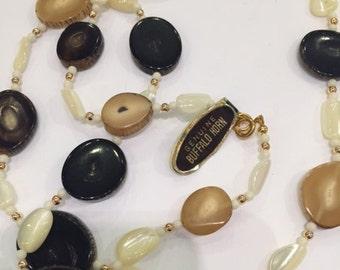 1960s Buffalo Horn Necklace