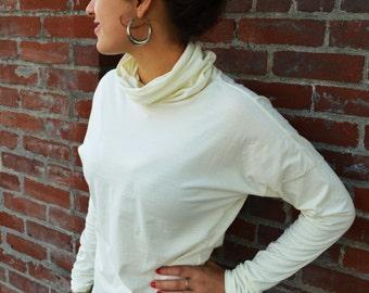 Organic Cotton Turtleneck shirt - high neck shirt