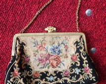 "Art Deco ""Petit Point"" Tapestry Purse"