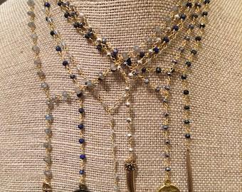 Assortment of Rosar Chain Lariat Necklaces