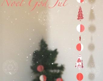 Christmas garland - God Jul