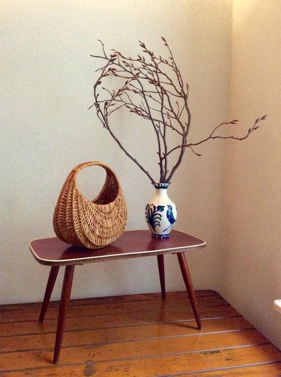 50er jahre vintage beistelltisch kaffee pflanze stand vier. Black Bedroom Furniture Sets. Home Design Ideas