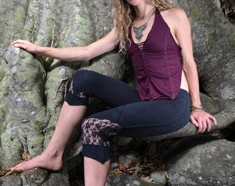 Elf-Arrow Leggings- Yoga Leggings, Pixie, Faerie, Capri, Doof, Psytrance, Goa Leggings, Tribal Leggings, Festival, Steampunk, Fairy, Gothic.