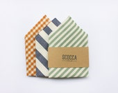 Pocket Square handkerchief,sage green,blue and white striped,mustard yellow,red coral,accessories wedding,gift for groomsmen groom witnesses