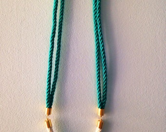 Turquoise Hieroglyph Rope Necklace