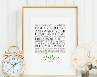 Irish Wedding Or Anniversary Blessing Etsy UK