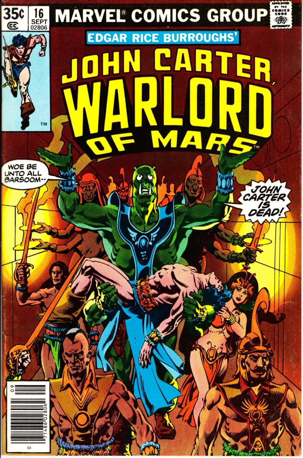 Warlords Of Mars Comic