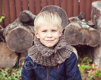 Download crochet pattern #029 - Chunky ribbed cowl, neck warmer, scarf - Toddler/child, adult sizes - pdf tutorial