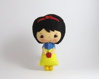 Ready to ship Snow White 100% wool felt doll fairy tale doll