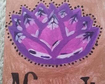 Beautiful Namaste 5x7 Acryllic Painting