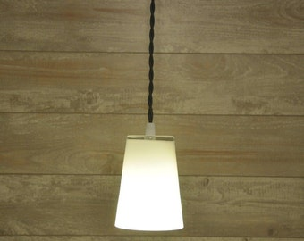 Modern Look Kitchen Pendant Light Fixture Lamp Glass Canopy