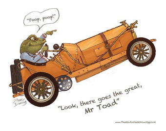 Mr Toad in his Car