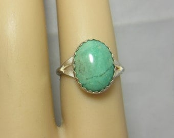 Turquoise Ring Size 6 Sterling Silver Handmade December Birthstone Turquoise Jewelry Silver Jewelry Birthstone Jewelry Vintage Turquoise 169