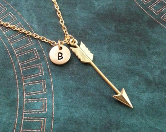Arrow Necklace, Archer Necklace, Personalized Necklace, Arrow Pendant, Boho Necklace, Arrow Charm Necklace, Bohemian Jewelry, Archery Gift
