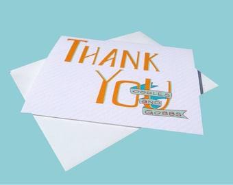 Printable Thank You Card - Digital Download - Ooodles & Gobbs - INSTANT DOWNLOAD