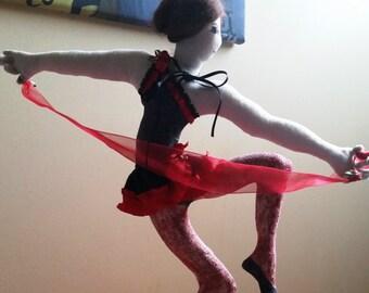 "Soft Sculpture 17"" Dancing Lady"