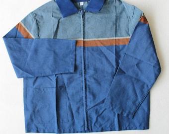 Shirt/Blue child overshirt of 1970s