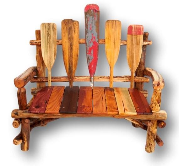 paddle bench reclaimed wood bench lake house bench lake