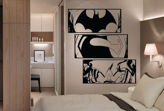 huge dc comics justice league wall art stickers by