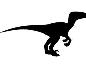 Velociraptor Dinosaur - Home/Laptop/Computer/Phone/Truck/Car Bumper Sticker Decal