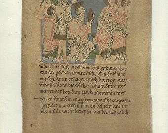 1800s handschrift calligraphy inserts blattes leben der jungfrau  download