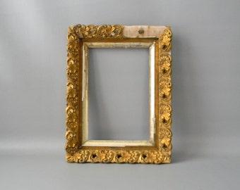 Vintage Rustic Gold Wooden Photo Frame