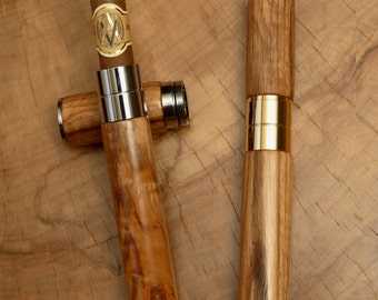 50mm Wooden Travel Cigar Tube in Red Ash