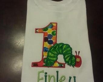 Hungry Caterpillar First Birthday Shirt