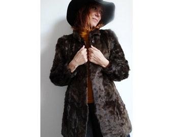 french 60S fur swing coat  // fur 60s  short jacket