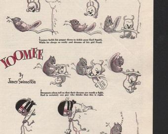 """Original Good Housekeeping cartoon """"Yoomee"""" by James Swinnerton 1930s, 8x11 in. - Kids225"""