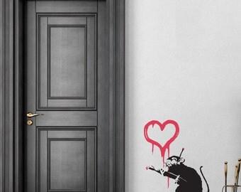 Banksy Loce Rat Wall Decal