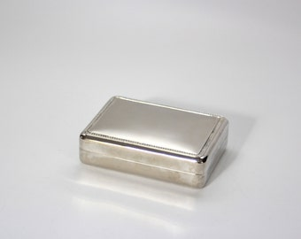 Vintage Silverplate Jewelry / Cigarette Box