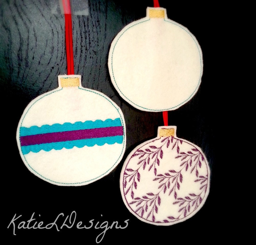 machine embroidery ornaments