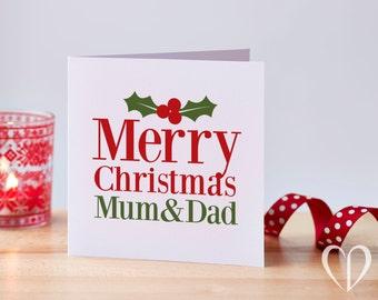 Mum & Dad Christmas Card