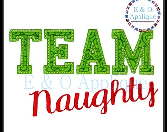 Naughty or Nice Machine Applique Design - Naughty Embroidery Design - Nice Embroidery Design - Team Naughty Applique - Team Nice Applique