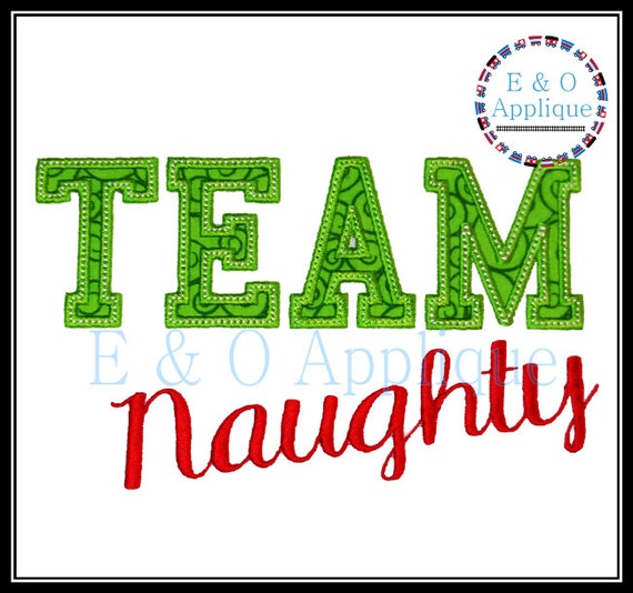Naughty Or Nice Machine Applique Design Naughty Embroidery Design
